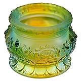 FOMIYES Tazón de agua budista tibetana que ofrece el cuenco de agua taza de cristal...