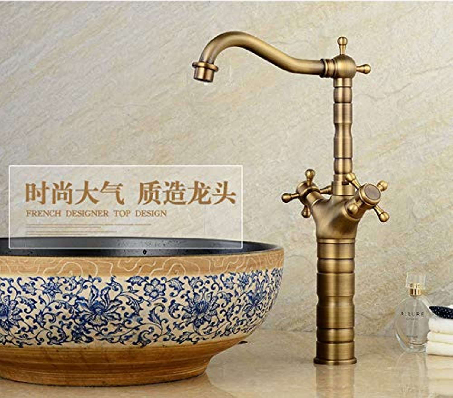Makeyong New Deck Bathroom Basin Sink Mixer Tap Polished Antique Bronze Basin Faucet Bathroom Faucet Sink Tap