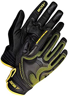 Bob Dale Gloves 20110740XL Mechanics Glove Synthetic Leather Anti-Vib Back Hand Impact,
