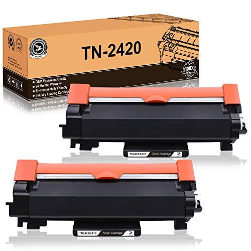 FITU WORK TN2420 TN-2420 TN-2410 Kompatible für Brother MFC-L2710DW HL-L2350DW DCP-L2530DW HL-L2310D HL-L2370DN HL-L2375DW DCP-L2510D DCP-L2550DN MFC-L2710DN MFC-L2730DW MFC-L2750DW
