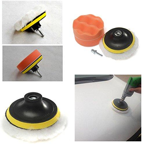 Generic NV _ 1001005074 _ Yc-uk2 R Newpol Pad Kit avec perceuse Buffe 10,2 cm brut polonais kit adaptateur pour perceuse mémoire tampon de polissage Ter F de voiture polisseuse New 10,2 cm gros
