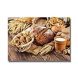 Moderne Küche Thema Leinwand Malerei Brot Milch Poster und