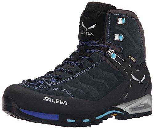 Salewa WS Mountain Trainer Mid Gore-TEX, Trekking & Wanderstiefel Damen, Grau (Carbon/River Blue), 36.5 EU
