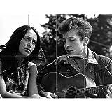 Artery8 Folk Singers Joan Baez Bob Dylan Guitar Old Photo