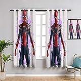Rideaux isolés PeintureThe Avengers Infinity War Spiderman Œillet de Fenêtre Rideaux pour garçon salon L84 x L84