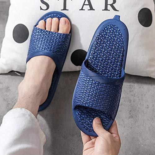 Zapatillas Playa Mulas,Baño Sandalias goteras,Zapatillas Antideslizantes Fondo Suave,Sandalias Huecas Verano,Azul Marino,Zapatillas Piscina...