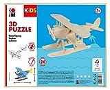 Marabu 317000000002 - KiDS 3D Holzpuzzle Wasserflugzeug, mit 28 Puzzleteilen aus FSC-zertifiziertem Holz, ca. 21 x 9 cm groß, einfache Stecktechnik, zum individuellen Bemalen und Gestalten
