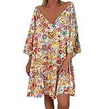 Posional Vestido De Mujer Playa Estampados Casual Corto Traje De Baño Protector Solar para Cubrir Bikini Flores Verano 2019 Boho Pareo Camisola Piscina Talla Grandes
