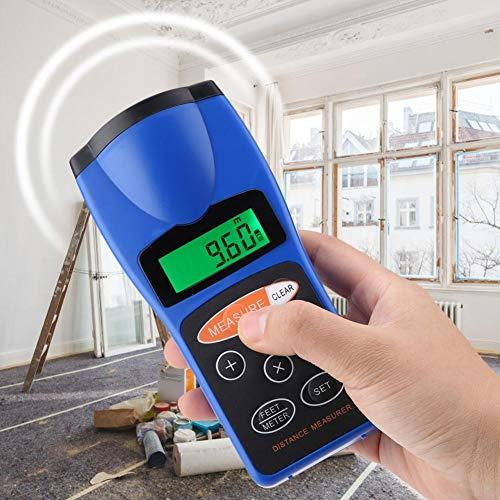 Pangding Misuratore di Distanza ad ultrasuoni, distanziometro palmare Digitale CP-3008