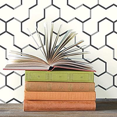 RoomMates RMK9093WP Open Geometric Peel and Stick Wallpaper