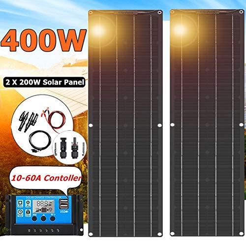 LAMP-XUE 2 Packungen 200 Watt Monokristalline Solarmodul mit MC4 Steckverbinder High Efficiency Module PV Power für Batterielade Boot, Caravan, Wohnmobil