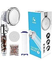 VEHHE Douchekop Krachtige stroom met Kralen Filter Druk Boosting Douchekop Spray met 3 Modi Waterbesparend Baden voor Volwassenen Kinderen Huisdieren Thuis en Gym