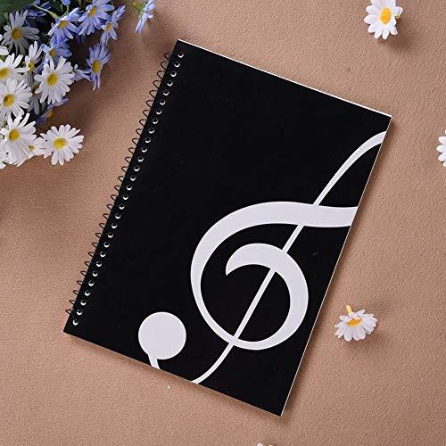 Hmg 8109897 50 páginas Hoja de música Cuaderno Espiral Cuaderno de bastón Cuaderno del Personal Papel de Libro de Ejercicios