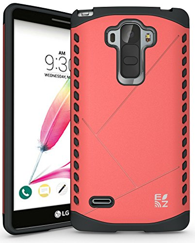 ECOZ [SHIELDX LITE] Slim Protective Dual Layer Armor Case Cover for LG G Stylo/LG G Stylus (LS770) (Rose Pink)