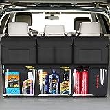 Organizer Auto- Super Capacità Organizer Bagagliaio Auto, Borsa per Bagagliaio Auto Portaoggetti Auto for SUV/MVP, Rganizer per Bagagliaio per SUV con 6 Tasche Grandi(Tasche trasparenti 108×60cm)