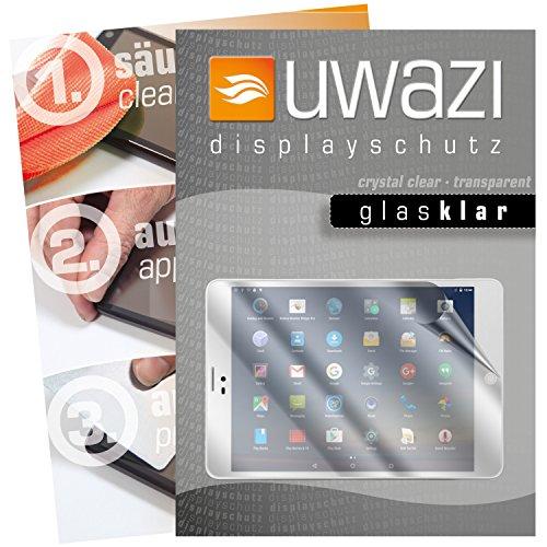 uwazi I 3X Glas-klare Schutzfolie für Winnovo M798 Tablet PC Displayschutzfolie I Folie I Anti Fingerabdruck I Anti Kratzer