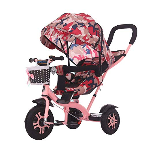 Fantastic Prices! Zjnhl Children's Fun/Kids Tricycle Trike Stroller First Bike 4 In1 WiRemovable Pus...