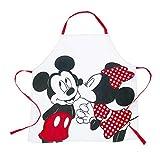 SBBH - Grembiule Disney per adulti, motivo: Topolino e Minnie, 72 x 77 cm, 100% cotone