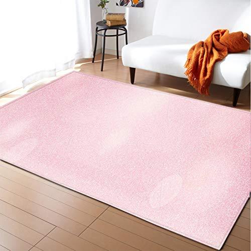 QNYH Superficie Limpia Alfombra para El Hogar De Color Rosa Oscuro, Alfombra Suave Antideslizante En El Área del Sofá del Dormitorio Y La Sala De Estar, Alfombra Lavable 80cmx150cm