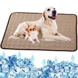 Dog Cooling Mat, Pet Dog Self Cooling Pad, Ice Silk Washable Summer Cool Mat for Cats, Kennels, Crates and Beds
