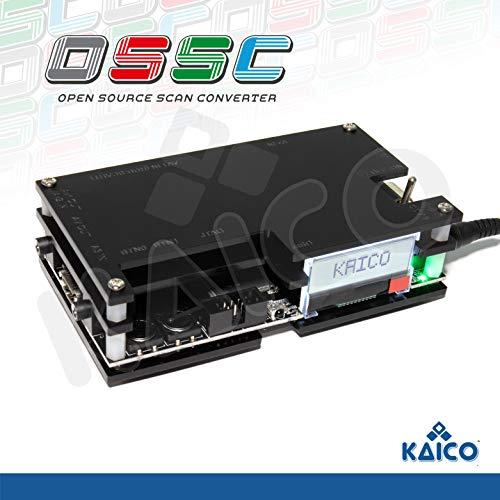 Kaico Edition OSSC Open Source Scan Converter 1.6 mit SCART, Komponenten und VGA zu HDMI für Retro Gaming. Zeilenvervielfacher-Upscaler perfekt für verzögerungsfreies RGB-Retro-Gaming