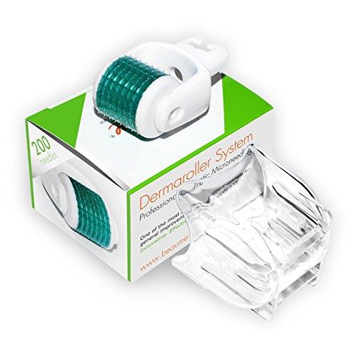 BEAUME® Aufsatz mit 200 zylindrischen Nadeln aus medizinischem Edelstahl für alle BEAUME® Dermaroller mit wechselbarem Aufsatz, das Original, Nadellänge:3.00mm
