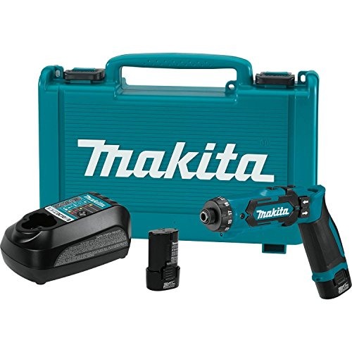 Makita DF012DSE 7.2V Lithium-Ion Cordless 1/4' Hex Driver-Drill Kit with Auto-Stop Clutch