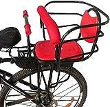 HYQW Asiento Bicicleta para Niños Montado En La Parte Trasera, Asiento Seguridad para Niños Accesorio para Bicicleta Asiento Valla Especial para Bebés Adecuado para Niños 2 a 8 Años Máx 50 Kg,Red