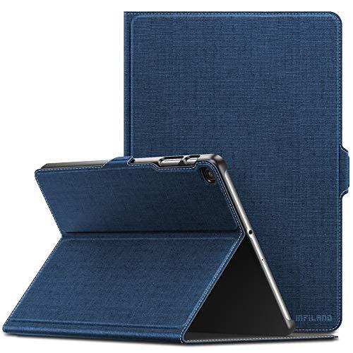 INFILAND Hülle für Samsung Galaxy Tab A 10.1 2019, Slim Ultraleicht Halten Schutzhülle Hülle kompatibel mit Samsung Galaxy Tab A 2019 (T510/T515) 10.1 Zoll,Dunkleblau