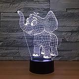 Film Kleine Elefant Acryl Plug In Kreative Nachtlicht 3D LED Tischlampe Kinder Geburtstagsgeschenk Nachtzimmer Dekoration