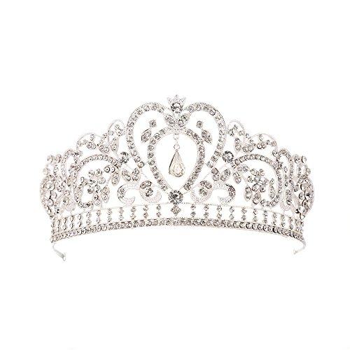 LUCKYYY Barock Krone Krone Braut Accessoires Brautkleid Accessoires