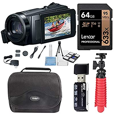 Canon Vixia HF W10 Waterproof Camcorder Bundle with Lexar 64B Memory Card, Card Reader, Tabletop Tripod, Camera Bag and XIT Deluxe Cleaning Kit by Canon