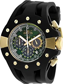 Invicta Men's S1 Rally Stainless Steel Quartz Watch with Silicone Strap, Black, 26 (Model: 28570)