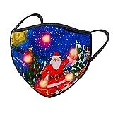 Alueeu LED Licht Mundschutz Weihnachten Lustig Erwachsene Halstuch 3D Druck Bandana Maske Multifunktionstuch mit Motive Mehrweg Atmungsaktiv Mund und Nasenschutz Damen Herren