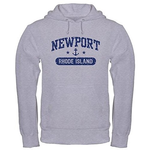 CafePress Newport Rhode Island Pullover Hoodie, Classic & Comfortable Hooded Sweatshirt Heather Grey