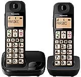 Panasonic KX-TGE112E Big Button Twin DECT Cordless Telephone with Nuisance Call Blocker