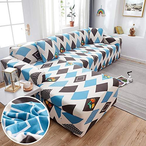 Fsogasilttlv Funda Cubre Protector para Sofás Decorativa Universal 3 plazas, Funda de sofá de algodón con Estampado Floral, Funda de Toalla, Fundas de sofá para Sala de Estar protegen los Muebles K