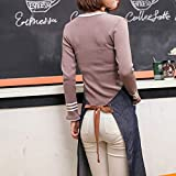 Eastery Schürze Kochschürze Latzschürze Gastronomie Grillschürze Küchenschürze Frau Ärmellos Schürzemit Taschen Einfacher Stil Für Frauen Männer Chef (Color : Colour, Size : Size) - 5
