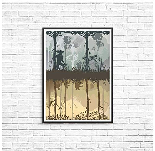huayao TV Show Stranger Things Poster Upside Down Wall Art Prints Canvas Painting Vintage Living Room Bedroom Home Wall Decor 40X50Cm Sin Marco