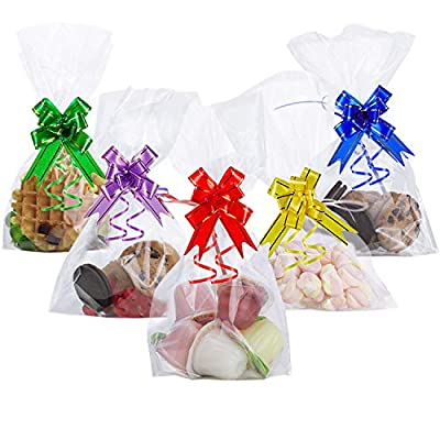 AUERVO Clear Cellophane Treat Bags