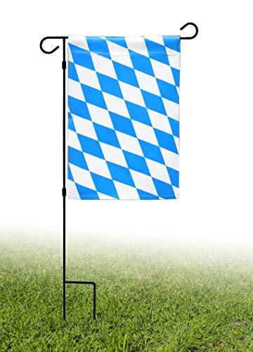 Star Cluster Garten Flagge/Garten Fahne mit Flaggenständer (2Stück Bayern 30 x 45 cm + Flaggenständer)