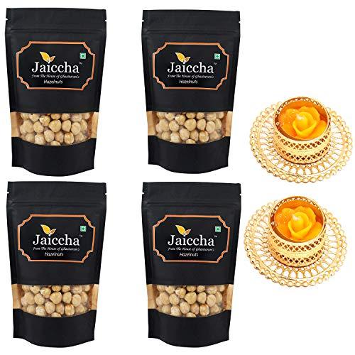 Jaiccha Ghasitaram Diwali Gifts Dryfruit - Hazelnuts 800 GMS with 2 T-Lites