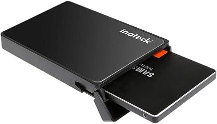 [Optimiert für SSD] Inateck USB 3.0 Externes festplatten Gehäuse für 9.5mm 7mm 2.5 zoll SATA-I, SATA-II, SATA-III, SATA SSD und HDD mit USB3.0 Kabel , keine zusätzlichen Treiber benötigt, Werkzeuglose - Schwarz