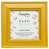 Hampton Frames Paloma - Cornice portafoto Quadrata, Legno, Giallo, 4x4 (10x10cm)
