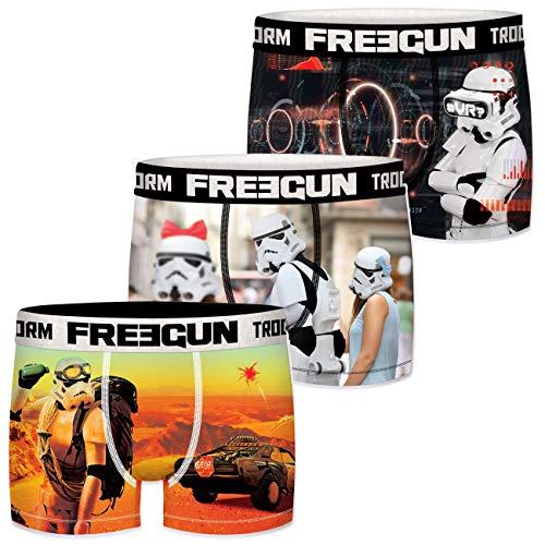 FREEGUN Star Wars Herren Boxershorts Funny Stormtrooper Krieg der Sterne Meme Druck 3er Pack S M L XL XXL, Größe:L, Farbe:Motivmix 1