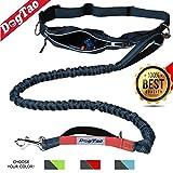 DogTao® Guinzaglio per Correre con Cani - Guinzaglio da Jogging Anti-Tiro con Cintura Running