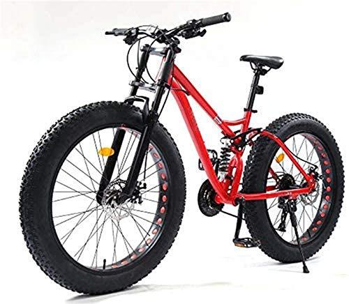 Bicicleta de carretera de la ciudad de cercanías, Bicicletas 26 pulgadas de montaña, cola Fat Tire MBT for bicicleta suave, doble suspensión bicicleta de montaña, el marco de acero al carbono de alta,