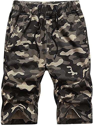 JACKMOUSERICE Men's Camouflage Printed Shorts Personality ColorBlocking Streetwear Exercise