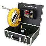 MAOTEWANG 7' Monitor 30M DVR Recording Pipe Inspection Video Camera,IP68 HD 1000TVL Drain Sewer Pipeline Industrial Endoscope System with 12PCS LED Lights 8GB SD Card