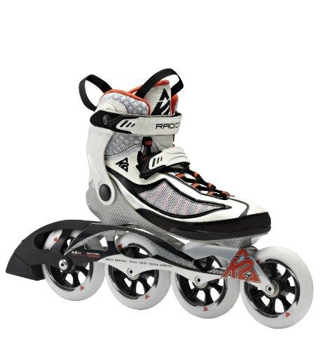 K2 Skates Damen Radical 100 W Inline Skates, Weiß/Schwarz/Orange, 39.5 EU